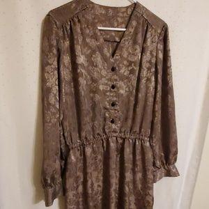 Vintage | Shiny Abstract Midi Dress
